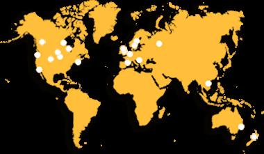 Worldwide Client Map